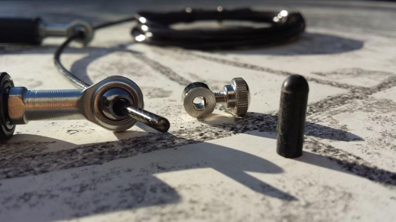 Die Litze mit Stellschraube und Gummiaufsatz des Bearing Pro von AMRAP Fitness