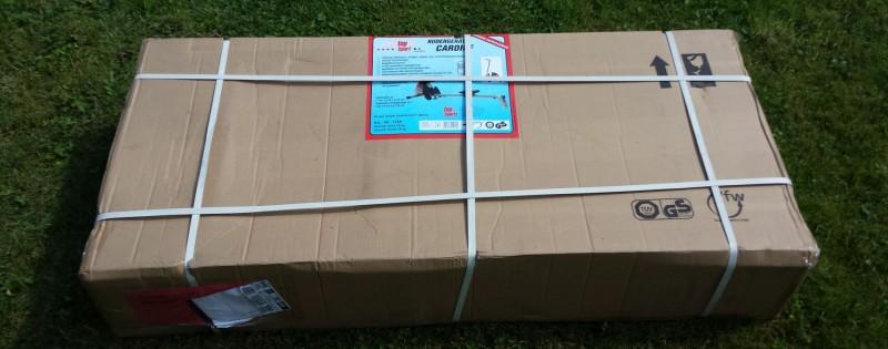 Verpackung der Ruderzugmaschine Cardiff von Cristopeit