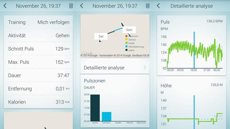 Screenshots aus der Jabra Sport App (Andorid)