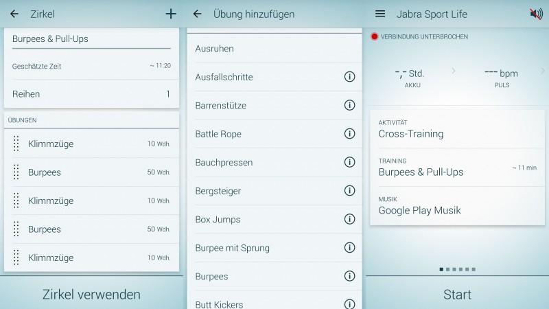 Jabra Sport App - Erstellen eines Workouts