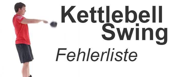 Kettlebell Swing Fehlerliste
