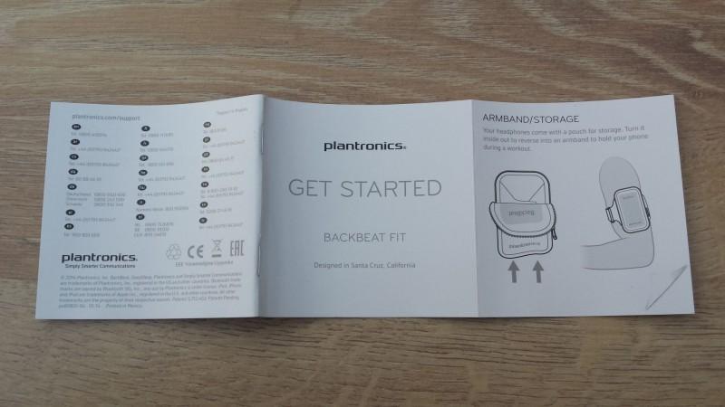 Cover der Anleitung des Plantronics BackBeat FIT