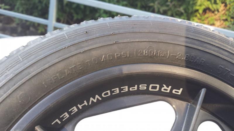 Reifenbeschriftung des PROspeedWheel