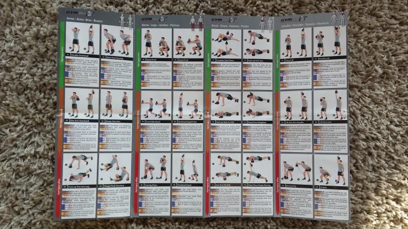 Beigelegtes Plakat mit Übungen für die Smashbell - Rückseite