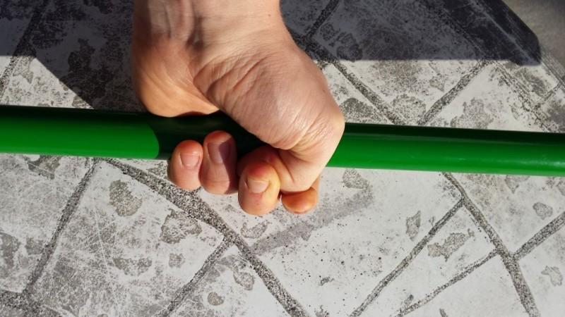 Der Hook Grip aus dem Gewichtheben