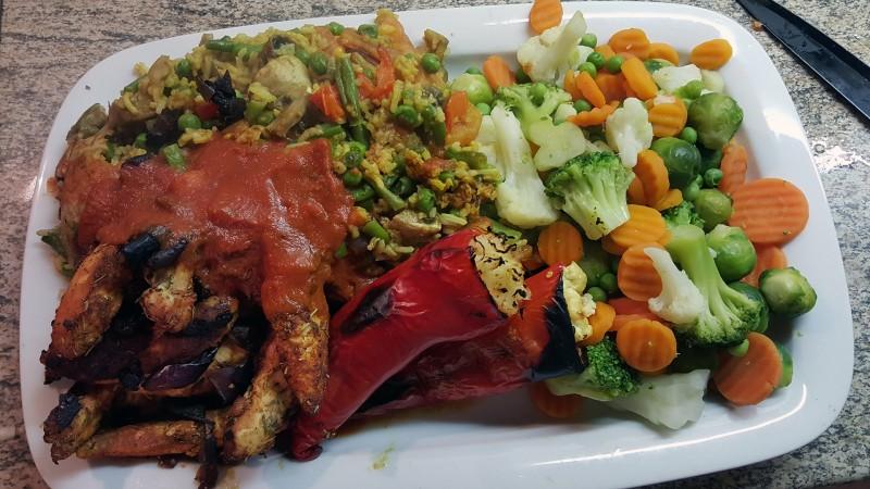 Eine Mahlzeit bei Intermittent Fasting