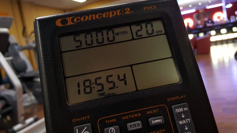 5k row on the concept 2 rower