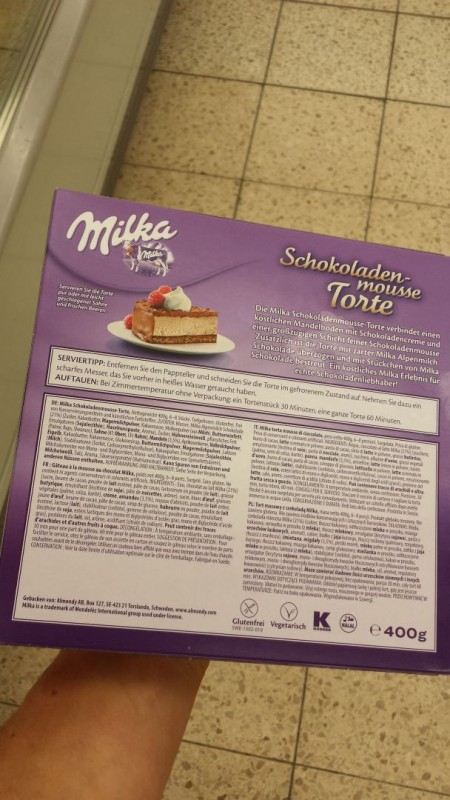 Almondy Milka Schokoladen Mousse Kalorien Nahrwerte