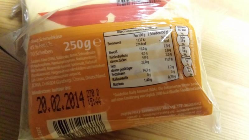 kalorien toast scheibe