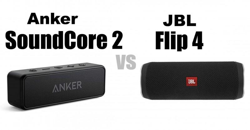 Anker SoundCore 2 vs JBL Flip 4 - Welcher ist besser?