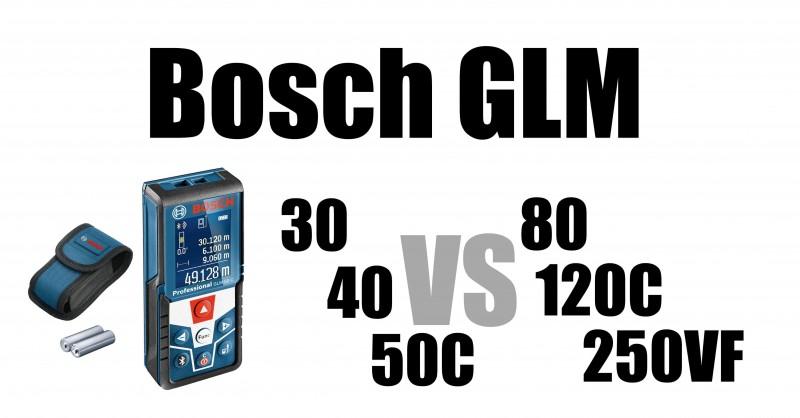 Bosch GLM Laser-Entfernungsmesser im Vergleich