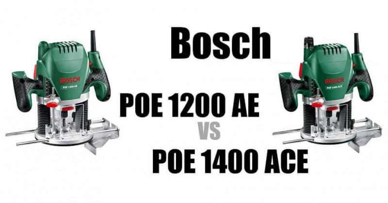 Bosch POF 1200 vs 1400 - Wo sind die Unterschiede?