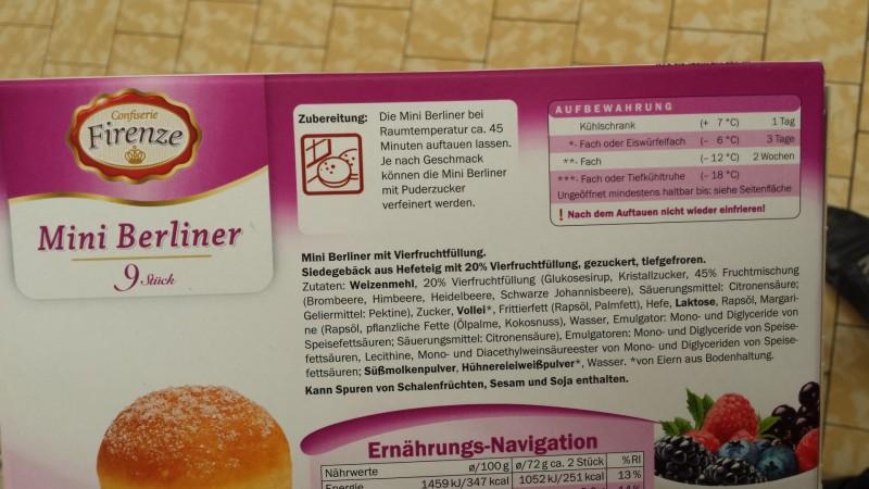 Lidl Mini Kühlschrank : Confiserie firenze lidl mini berliner kalorien nährwerte