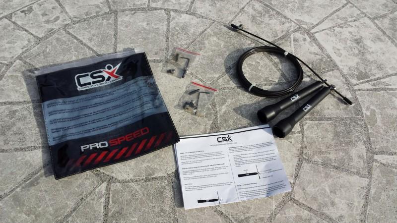 Lieferumfang des CSX Speedrope 3000