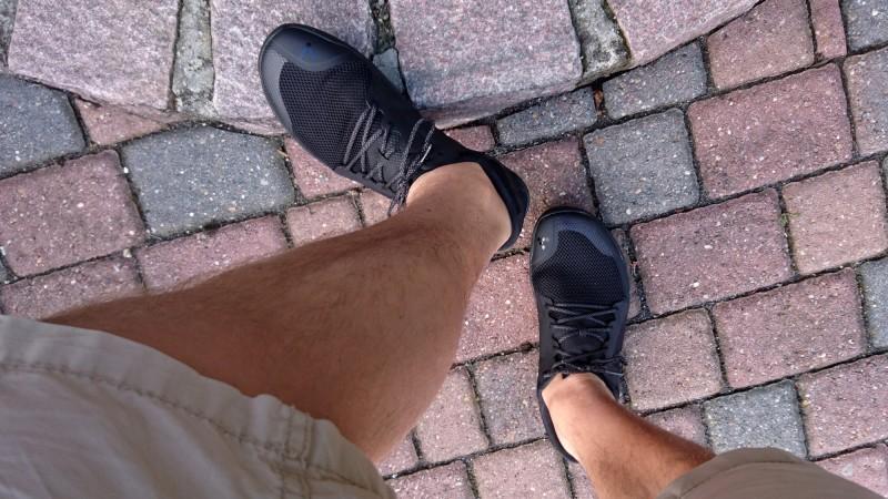 Der Primus Lite an meinem Fuß