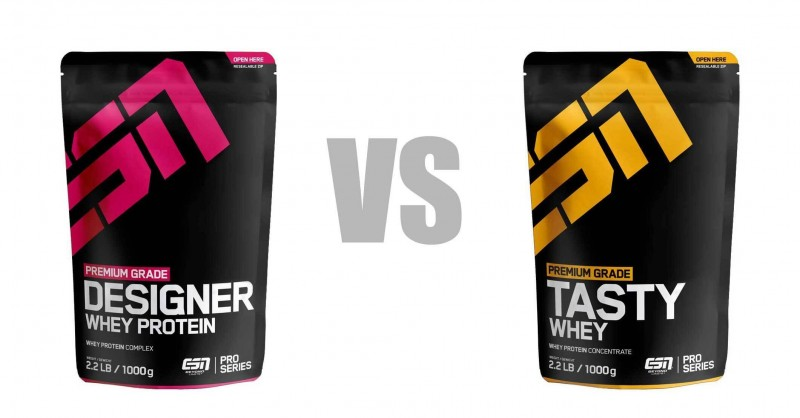 ESN Designer Whey vs Tasty Whey - Wo ist der Unterschied?