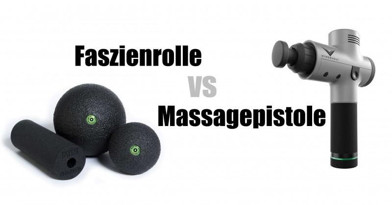 Faszienrolle vs Massagepistole - Was ist besser?