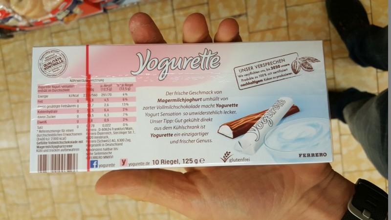 Yogurette Yoghurt Sensation Kalorien Nahrwerte Produktdaten