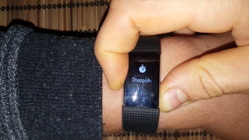 Der Fitbit Charge 2 hat eine Stoppuhrfunktion
