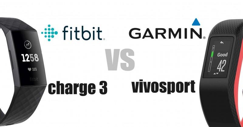 Fitbit Charge 3 vs Garmin vivosport - Die Fitness Tracker im Vergleich