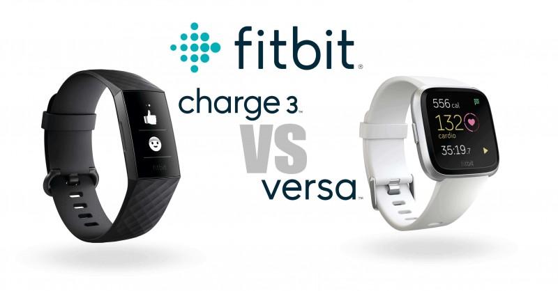 Fitbit Charge 3 vs Fitbit Versa - Differences & Comparison