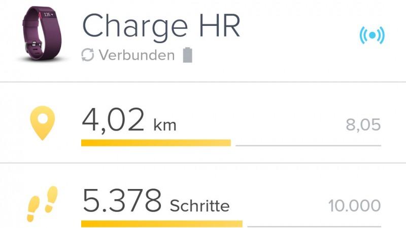 Distanzmessung auf dem Fahrrad funktioniert mit dem Fitbit Charge HR nicht