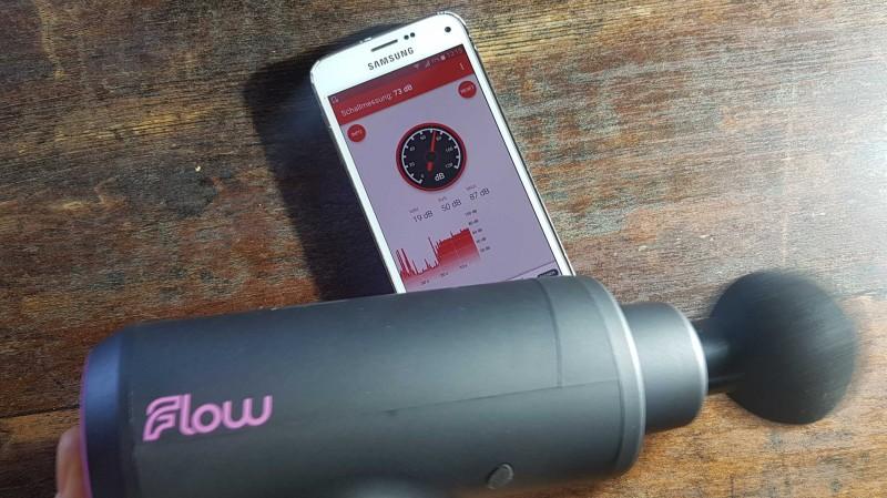 Test der Lautsärke von der Flow PRO mini - Dezibellmessung