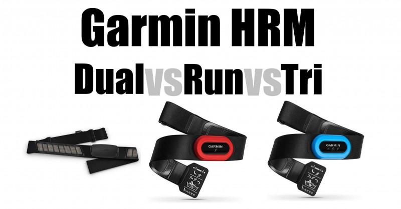 Garmin HRM-Dual vs HRM-Run vs HRM-Tri - Where are the differences?