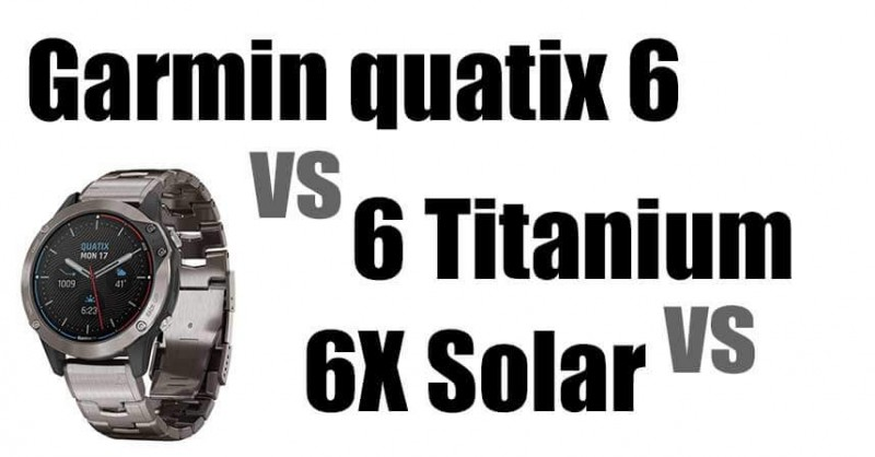 Garmin quatix 6 - models in comparison - What are the differences?