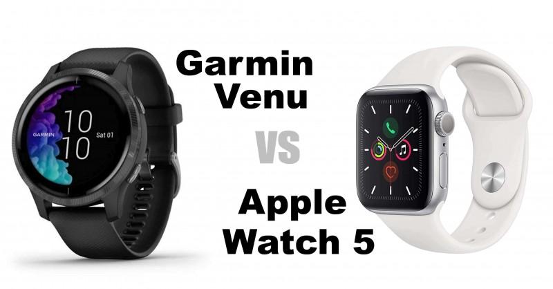 Garmin Venu vs Apple Watch Series 5 - Quale è meglio?