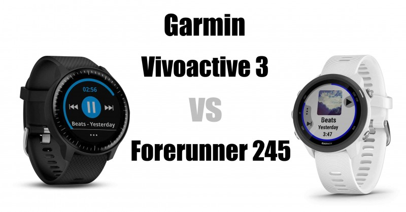 Garmin Vivoactive 3 vs Forerunner 245 - Which is better?