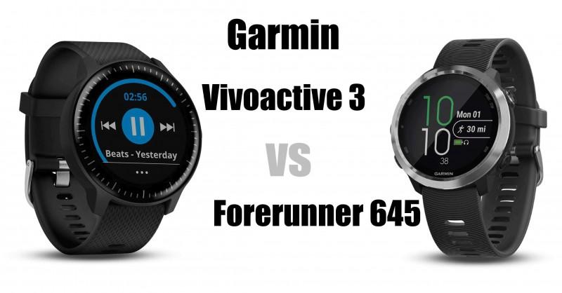 Garmin Vivoactive 3 vs Forerunner 645 - Wo sind die Unterschiede?