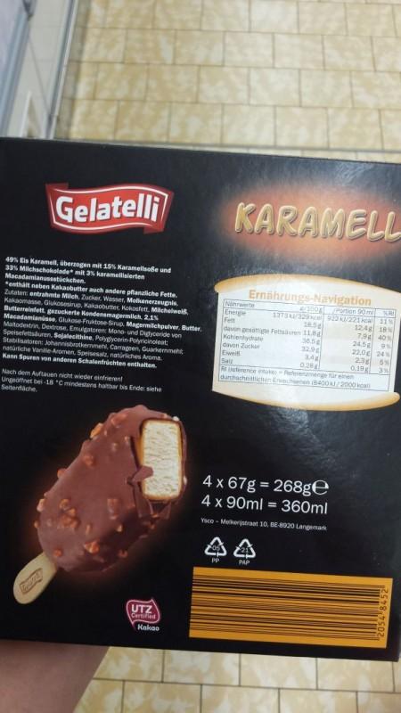 Gelatelli Lidl Stieleis Karamell Kalorien Nahrwerte