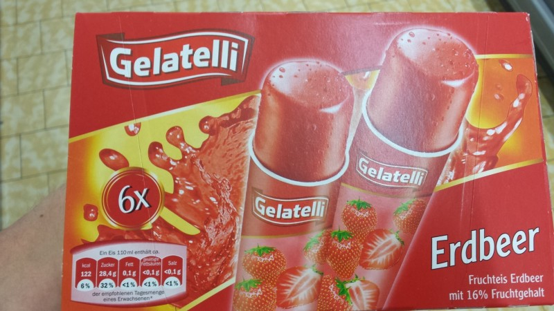 Gelatelli Lidl Wassereis Erdbeer Kalorien Nährwerte
