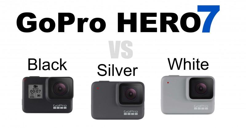 GoPro HERO7 - Black, Silver & White - Wo sind die Unterschiede?