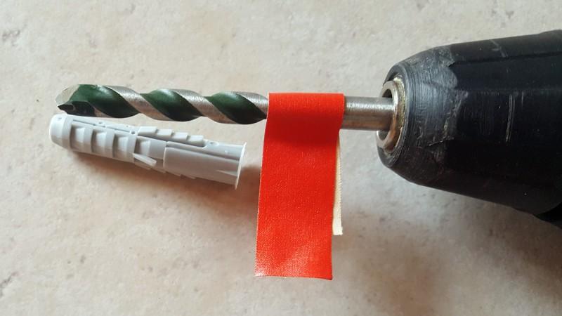 Heimwerker-Tipp: Länge des Bohrers abkleben