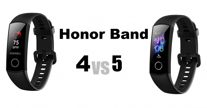 Honor Band 5 vs 4 - Where are the differences?
