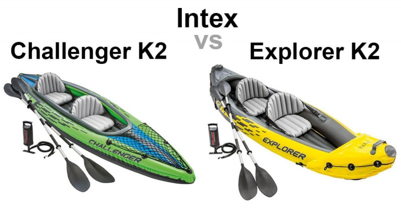Intex Challenger K2 vs Explorer K2 - Where are the differences?