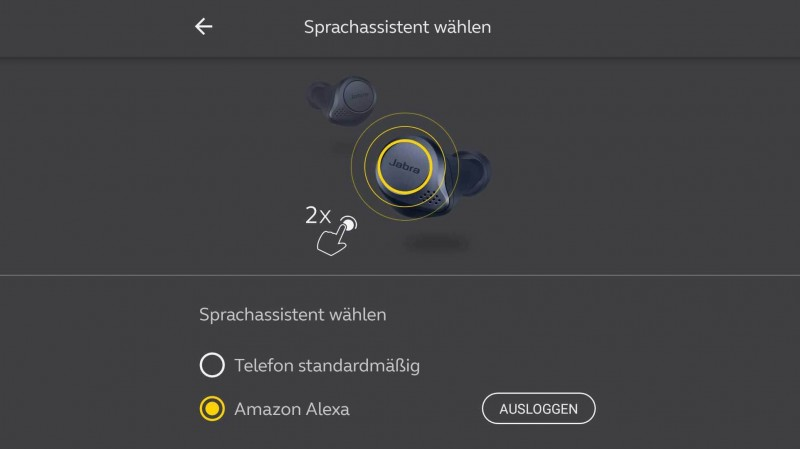 Amazon Alexa in der Jabra App