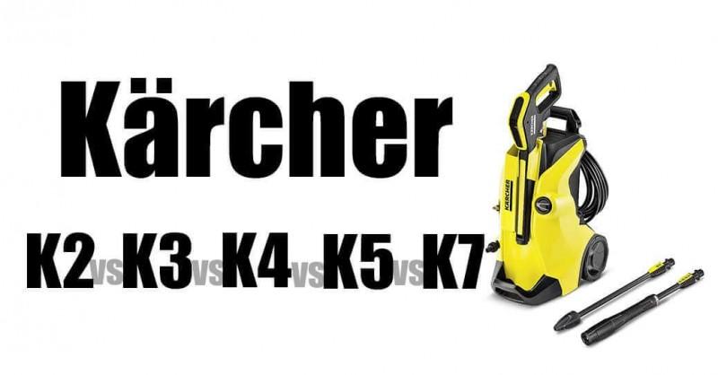 Kärcher K2 vs K3 vs K4 vs K5 vs K7 - Hochdruckreiniger im Vergleich