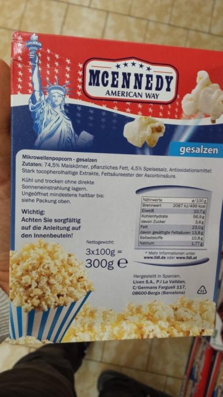 Popcorn Gesalzen