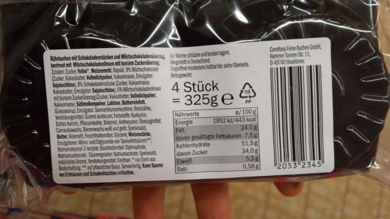 Mcennedy Muffins Chocolenas Kalorien Nährwerte