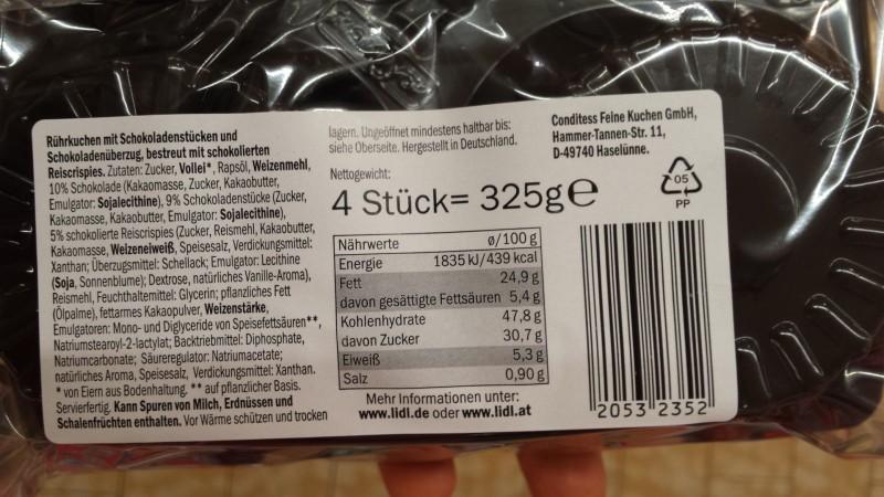 Mcennedy Muffins Crispies Kalorien Nährwerte Produktdaten