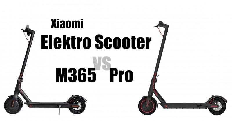 Mi Elektro Scooter M365 vs Pro - Wo sind die Unterschiede?