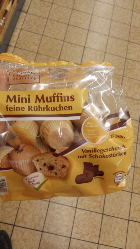 Monarc Mini Muffins Feine Rührkuchen Vanillegeschmack