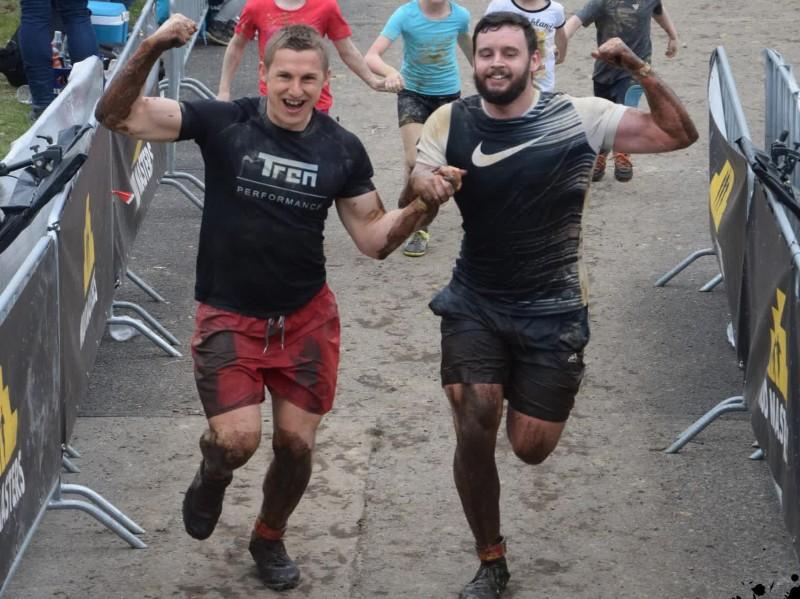 Unser Foto vom Zieleinlauf beim Mud Masters in Weeze 2017