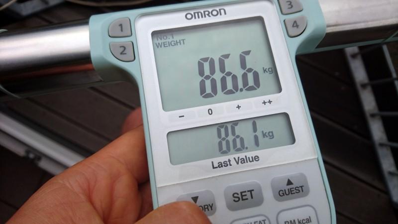 Ausgabe des Körpergewichts auf der Omron BF511