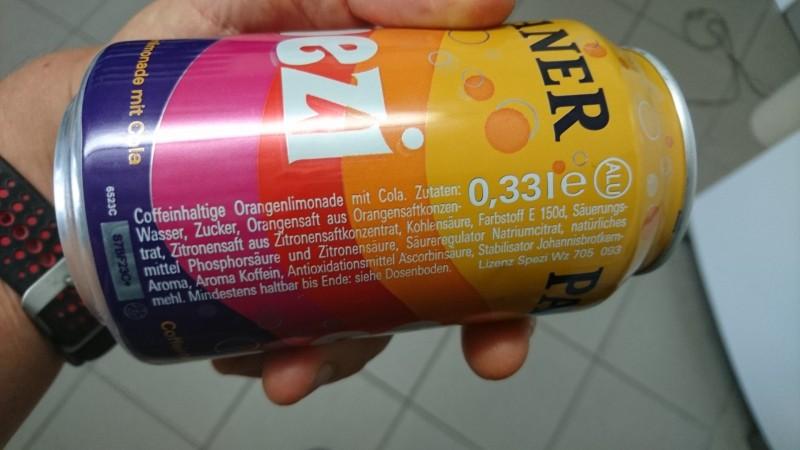 Spezi oder Gwasch heißen in Bayern die Cola Mix Getränke. Knapp von Peboni  geschlagen belegt