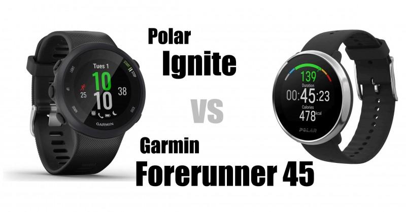 Polar Ignite vs Garmin Forerunner 45 - Welche ist besser?