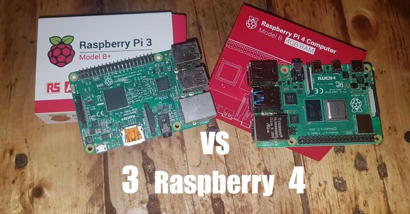 Raspberry Pi 3 vs 4 - Où sont les différences?
